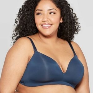 Auden Dark Blue Lightly Lined Wire Free Bra